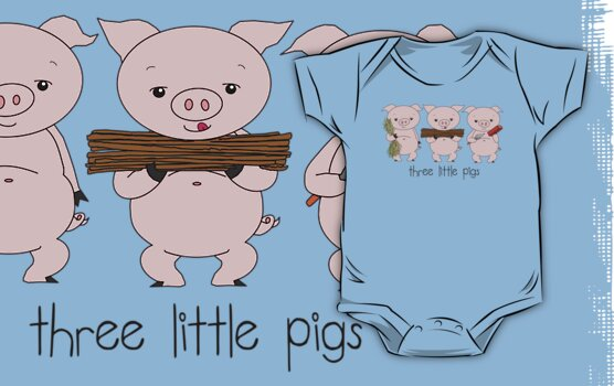 Three Little Pigs by Jellyscuds