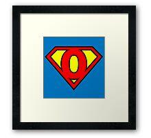 Super O Framed Print