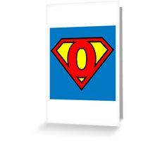 Super O Greeting Card