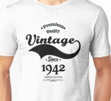 Premium Quality Vintage Since 1942 Limited Edition Unisex T-Shirt