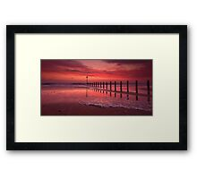 Fiery, The Angels Rose - Blyth Beach Framed Print