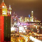 Hong Kong by Night by VariouspixPhoto