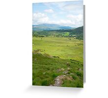 hikers route with mountain view Greeting Card