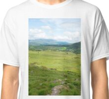 hikers route with mountain view Classic T-Shirt