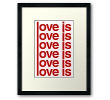 Love is Love Framed Print