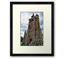 Historical Roman Church in Brittany Framed Print