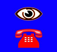 Eye Phone T-shirt Design by muz2142