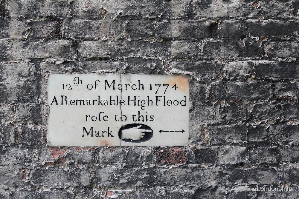 Twickenham flood marker by TheLondonphile
