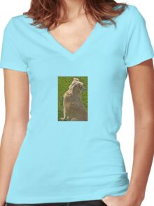Sweet Pea Women's Fitted V-Neck T-Shirt