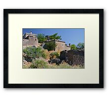 Historical Houses At Behramkale  / ASSOS – Turkey Framed Print