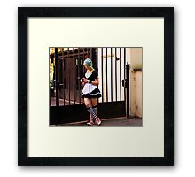 chek in at the sms Framed Print