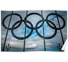 Tyne Bridge Olympic Rings Poster