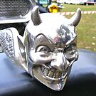 ford hot-rod skull hood ornaments by Russell Voigt