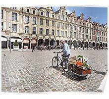 Arras market stall holder Poster