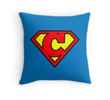 Super C Throw Pillow