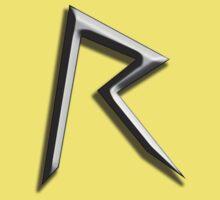 'R' Rihanna Navy Chrome by aaronnaps