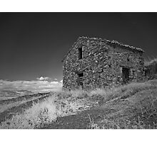 Infrared - Derelict outhouse Photographic Print