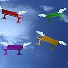Winged benches by Heather Goodwin