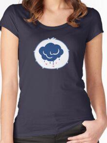 Grumpy Bear - Carebears - cartoon logo Women's Fitted Scoop T-Shirt