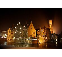 Frosty Bruges  Photographic Print