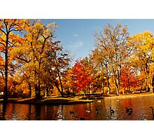 Autumn at Dufferin Islands Photographic Print