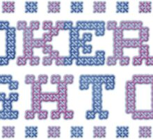 Cross Stitch - Hookers & Hightops - Blue/Purple Sticker