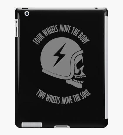 Two wheels move the soul skull iPad Case/Skin