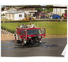 Fire Truck at Banjul Airport Poster