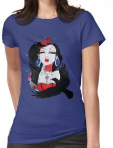 circus crow  Womens Fitted T-Shirt