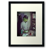FROG GAMER  Framed Print
