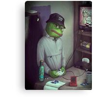 FROG GAMER  Canvas Print