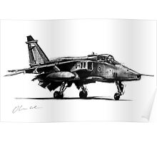 Jaguar Fighter Bomber Jet Poster