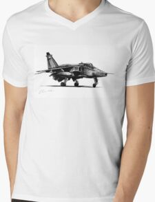 Jaguar Fighter Bomber Jet Mens V-Neck T-Shirt