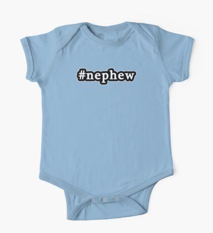 Nephew - Hashtag - Black & White One Piece - Short Sleeve