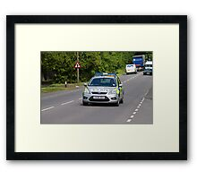 Police Patrol Car Framed Print