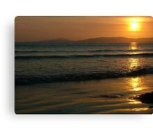 Sunset On Rossnowlagh Beach Canvas Print