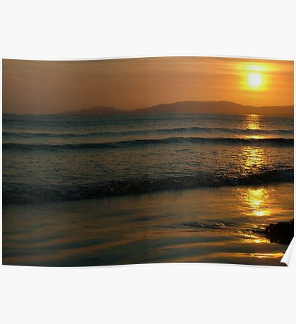 Sunset On Rossnowlagh Beach Poster
