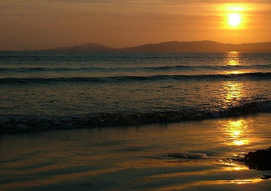 Sunset On Rossnowlagh Beach by Adrian McGlynn