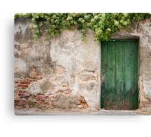 Krems: The Green Door Canvas Print