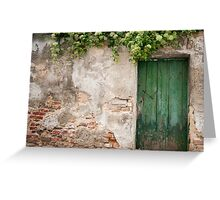 Krems: The Green Door Greeting Card