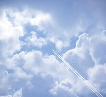 jet and its vapour trail by morrbyte