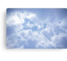 jet and its vapour trail Canvas Print