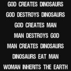 God creates dinosaurs  by Thomas Jarry