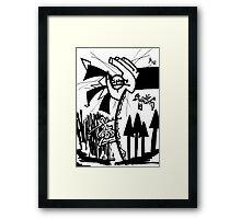 017 Framed Print