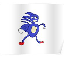 Sanic,Sonic The Hedgehog Poster
