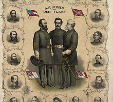 Confederate Generals of The Civil War by warishellstore
