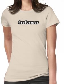 Reformer - Hashtag - Black & White Womens Fitted T-Shirt
