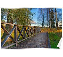 Autumn path - HDR Poster