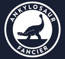 Ankylosaur Fancier (White on Dark) Kids Tee