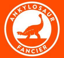 Ankylosaur Fancier (White on Dark) Kids Tee